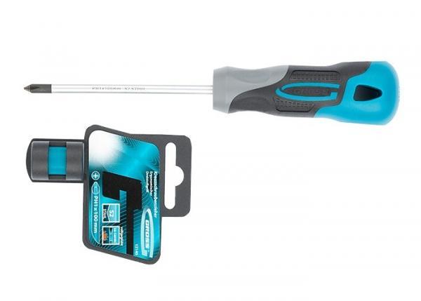 Отвертка PH1 x 100 мм, S2, трехкомпонентная ручка. GROSS