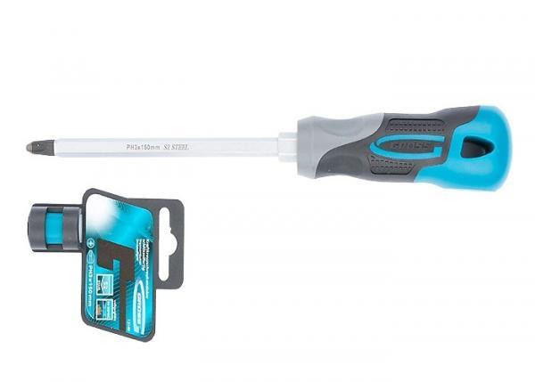 Отвертка PH3 x 150 мм, S2, трехкомпонентная ручка. GROSS