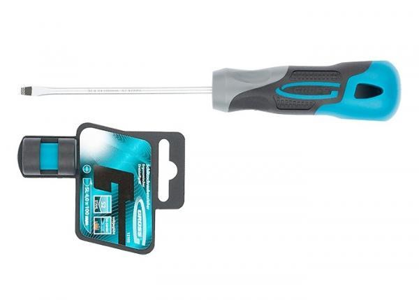 Отвертка SL4 x 100 мм, S2, трехкомпонентная рукоятка. GROSS