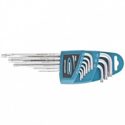 Набор ключей имбусовых TORX-TT, 9 шт: T10-T50, экстра-длинные, S2, сатинированные. GROSS