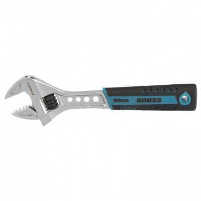 Ключ разводной, 200 мм, CrV, двухкомпонентная ручка. GROSS