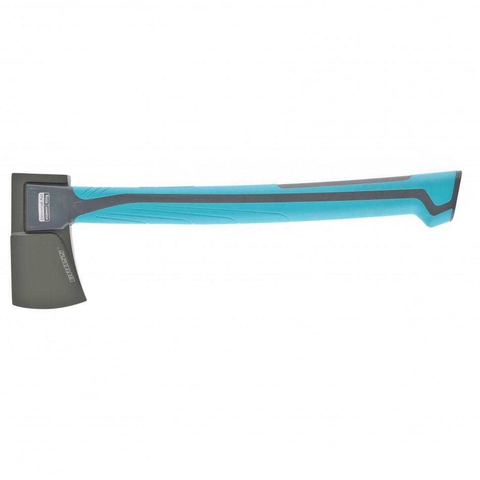 Топор универсальный 800 гр, кованый, тефлоновое покрытие, двухкомпонентное пластиковое топорище, 450 мм. Gross